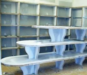 κατασκευές γωνιακών ραφιών με γυψοσανίδα