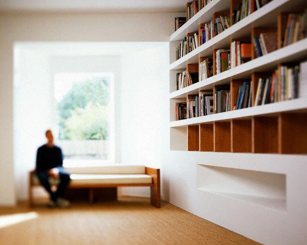 Bookshelves in Modern Private Library
