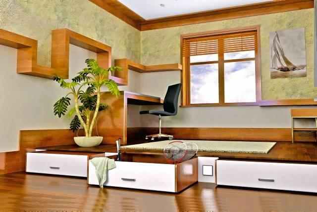 Ράφια ξύλινα τοίχου σχέδια
